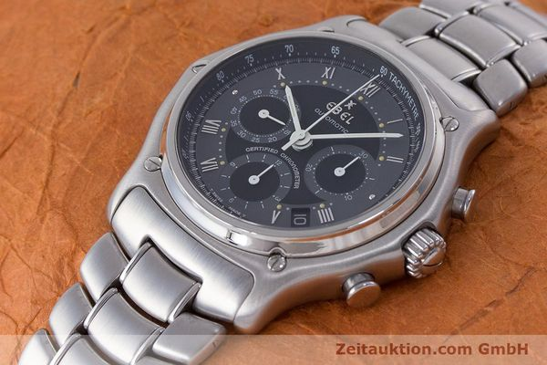Used luxury watch Ebel Le Modulor chronograph steel automatic Kal. 137 Ref. 9137241  | 160757 01