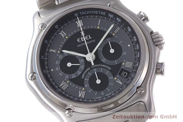 Used luxury watch Ebel Le Modulor chronograph steel automatic Kal. 137 Ref. 9137241  | 160757 02
