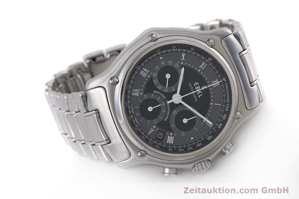 Used luxury watch Ebel Le Modulor chronograph steel automatic Kal. 137 Ref. 9137241  | 160757 03