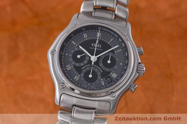 Used luxury watch Ebel Le Modulor chronograph steel automatic Kal. 137 Ref. 9137241  | 160757 04