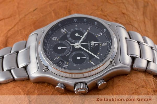 Used luxury watch Ebel Le Modulor chronograph steel automatic Kal. 137 Ref. 9137241  | 160757 05
