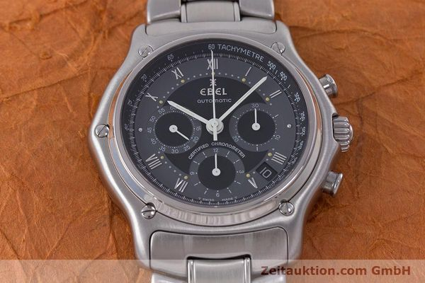 Used luxury watch Ebel Le Modulor chronograph steel automatic Kal. 137 Ref. 9137241  | 160757 16