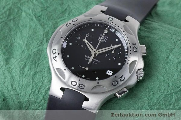 Used luxury watch Tag Heuer Kirium chronograph steel quartz Kal. 3.00 ETA 251262 Ref. CL1110-0  | 160760 01