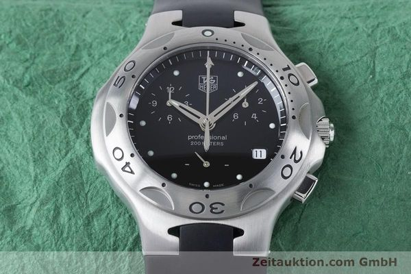 Used luxury watch Tag Heuer Kirium chronograph steel quartz Kal. 3.00 ETA 251262 Ref. CL1110-0  | 160760 15
