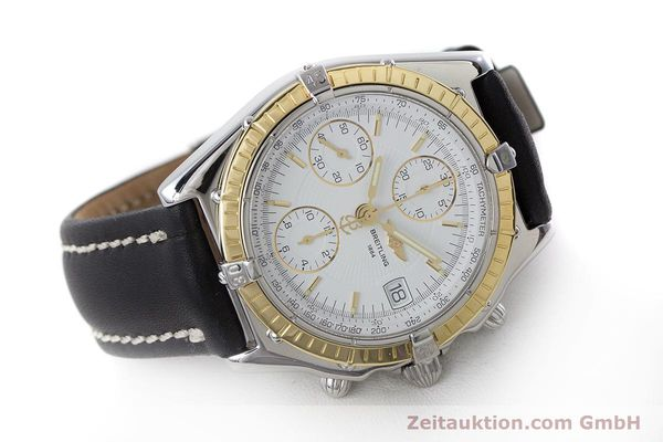 Used luxury watch Breitling Chronomat chronograph steel / gold automatic Kal. B13 ETA 7750 Ref. D13050.1  | 160767 03