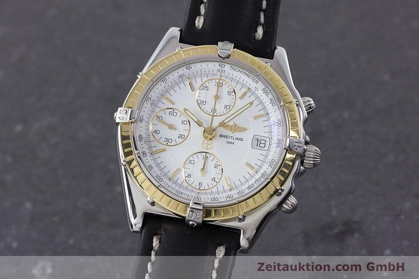 Used luxury watch Breitling Chronomat chronograph steel / gold automatic Kal. B13 ETA 7750 Ref. D13050.1  | 160767 04