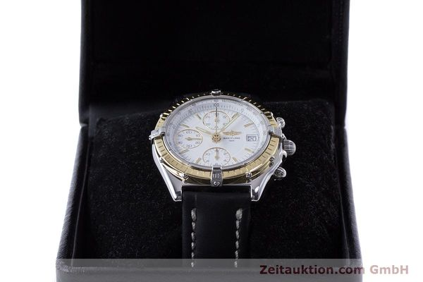 Used luxury watch Breitling Chronomat chronograph steel / gold automatic Kal. B13 ETA 7750 Ref. D13050.1  | 160767 07