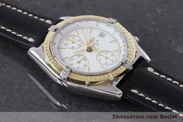 Used luxury watch Breitling Chronomat chronograph steel / gold automatic Kal. B13 ETA 7750 Ref. D13050.1  | 160767 15