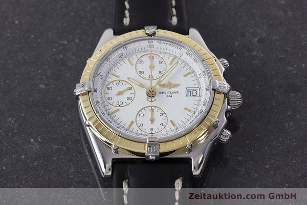 Used luxury watch Breitling Chronomat chronograph steel / gold automatic Kal. B13 ETA 7750 Ref. D13050.1  | 160767 16
