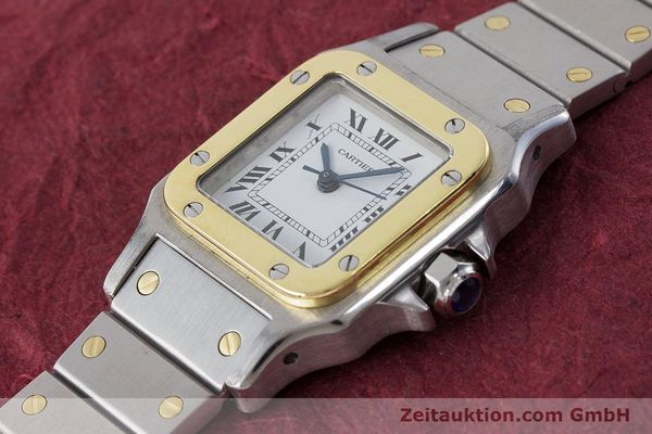 Used luxury watch Cartier Santos steel / gold automatic Kal. ETA 2670  | 160773 01