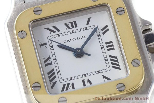 Used luxury watch Cartier Santos steel / gold automatic Kal. ETA 2670  | 160773 02