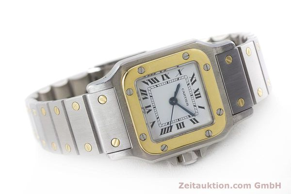 Used luxury watch Cartier Santos steel / gold automatic Kal. ETA 2670  | 160773 03