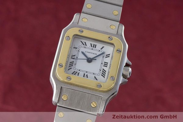 Used luxury watch Cartier Santos steel / gold automatic Kal. ETA 2670  | 160773 04
