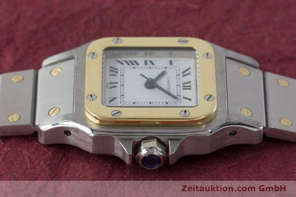 Used luxury watch Cartier Santos steel / gold automatic Kal. ETA 2670  | 160773 05