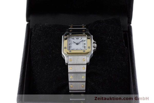 Used luxury watch Cartier Santos steel / gold automatic Kal. ETA 2670  | 160773 07