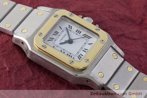 Used luxury watch Cartier Santos steel / gold automatic Kal. ETA 2670  | 160773 12