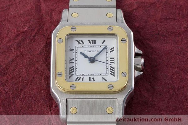 Used luxury watch Cartier Santos steel / gold automatic Kal. ETA 2670  | 160773 13