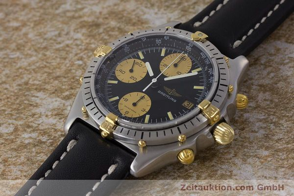Used luxury watch Breitling Chronomat chronograph steel / gold automatic Kal. Val. 7750 Ref. 81950  | 160781 01