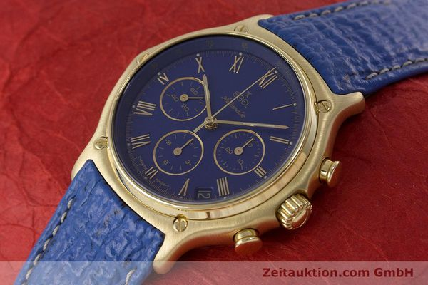 Used luxury watch Ebel 1911 chronograph 18 ct gold automatic Kal. 134 / 400 Ref. 8134901  | 160788 01