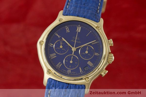 Used luxury watch Ebel 1911 chronograph 18 ct gold automatic Kal. 134 / 400 Ref. 8134901  | 160788 04