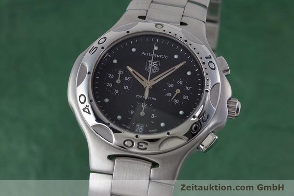 Used luxury watch Tag Heuer Kirium chronograph steel automatic Kal. ETA 2894-2 Ref. CL2110  | 160790 04