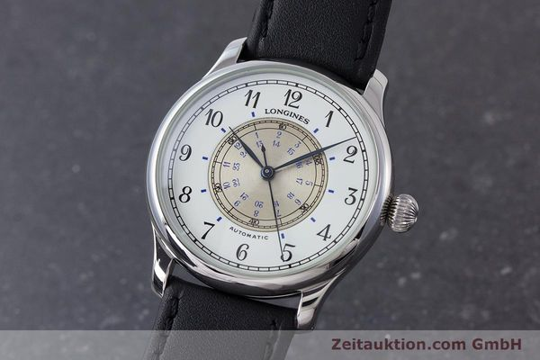 LONGINES WEEMS NAVIGATION WATCH STAHL AUTOMATIK HERRENUHR 628.5241 GLASBODEN [160792]