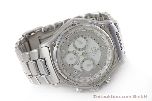 Used luxury watch Ebel Le Modulor chronograph steel automatic Kal. 137 Ref. 9137241  | 160799 03