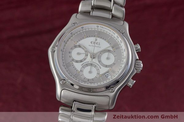 Used luxury watch Ebel Le Modulor chronograph steel automatic Kal. 137 Ref. 9137241  | 160799 04