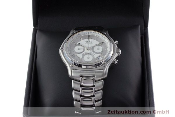 Used luxury watch Ebel Le Modulor chronograph steel automatic Kal. 137 Ref. 9137241  | 160799 07