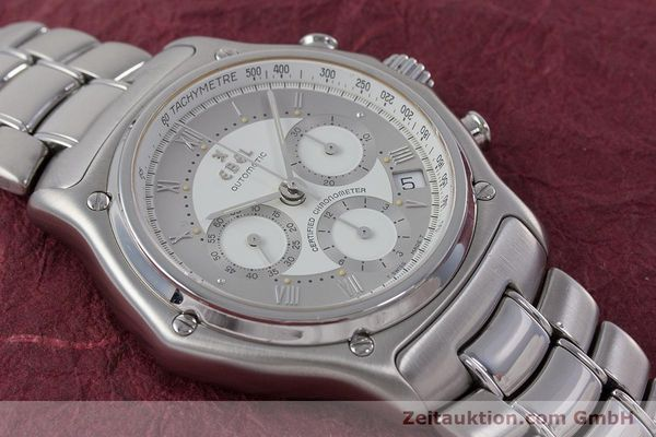 Used luxury watch Ebel Le Modulor chronograph steel automatic Kal. 137 Ref. 9137241  | 160799 14