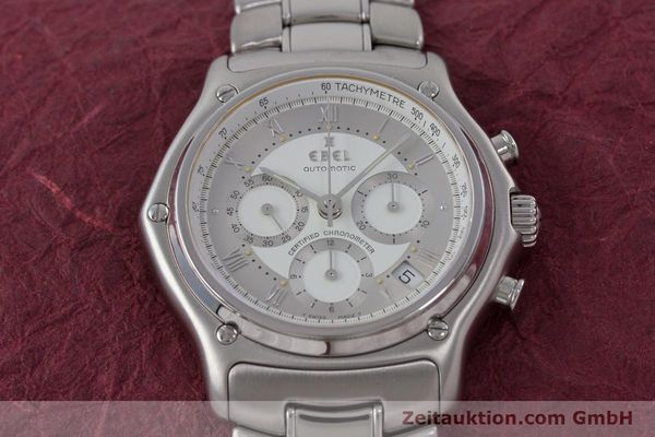 Used luxury watch Ebel Le Modulor chronograph steel automatic Kal. 137 Ref. 9137241  | 160799 15