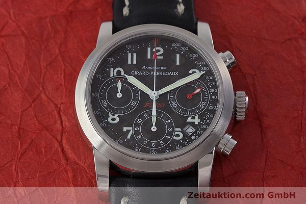 Used luxury watch Girard Perregaux Ferrari chronograph steel automatic Kal. 2280-831 Ref. 8020  | 160800 14