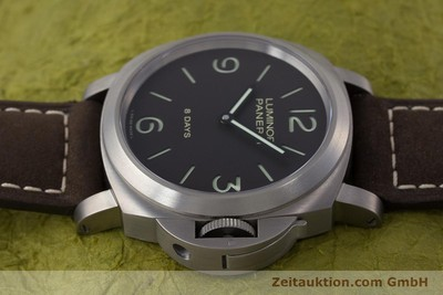 PANERAI LUMINOR 8 DAYS TITAN HANDAUZUG PAM00562 GLASBODEN NP: 6200,- EURO [160802]