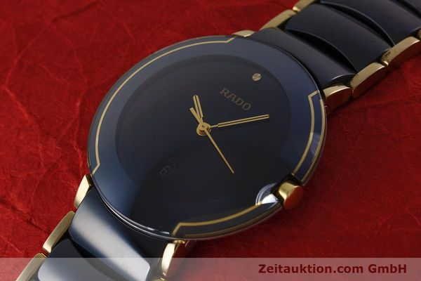 Used luxury watch Rado Diastar gilt steel quartz Kal. ETA 256.412 Ref. 129.0300.3  | 160811 01