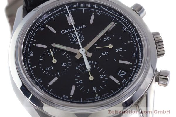 Used luxury watch Tag Heuer Carrera chronograph steel automatic Kal. 17 ETA 2894-2 Ref. CV2111-0  | 160812 02