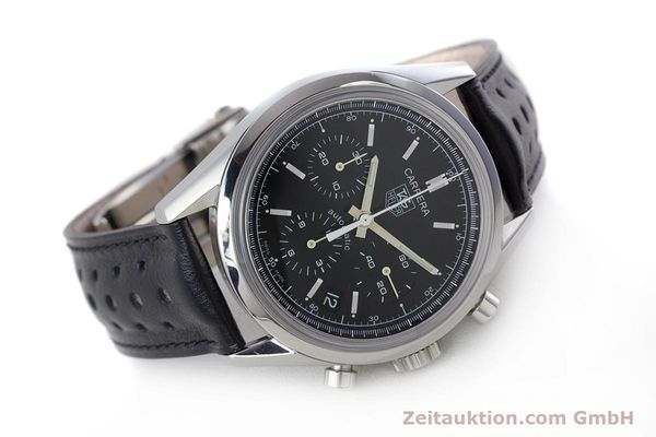 Used luxury watch Tag Heuer Carrera chronograph steel automatic Kal. 17 ETA 2894-2 Ref. CV2111-0  | 160812 03