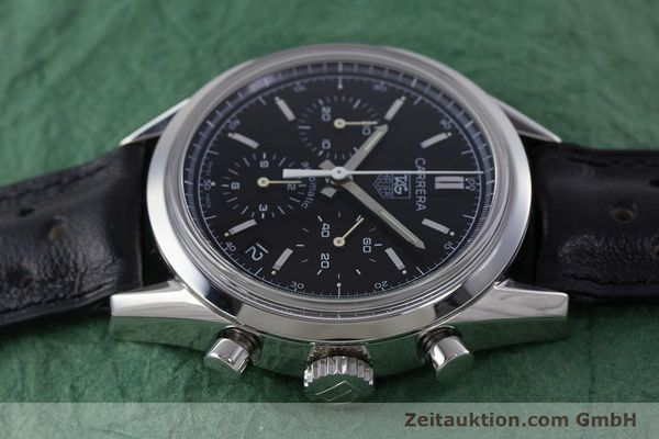 Used luxury watch Tag Heuer Carrera chronograph steel automatic Kal. 17 ETA 2894-2 Ref. CV2111-0  | 160812 05