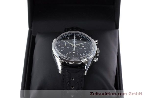 Used luxury watch Tag Heuer Carrera chronograph steel automatic Kal. 17 ETA 2894-2 Ref. CV2111-0  | 160812 07
