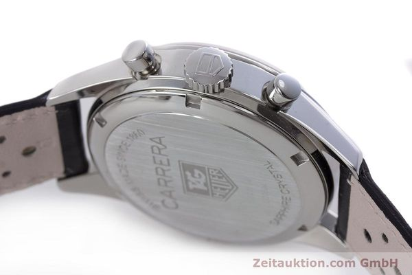 Used luxury watch Tag Heuer Carrera chronograph steel automatic Kal. 17 ETA 2894-2 Ref. CV2111-0  | 160812 08