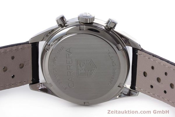 Used luxury watch Tag Heuer Carrera chronograph steel automatic Kal. 17 ETA 2894-2 Ref. CV2111-0  | 160812 09