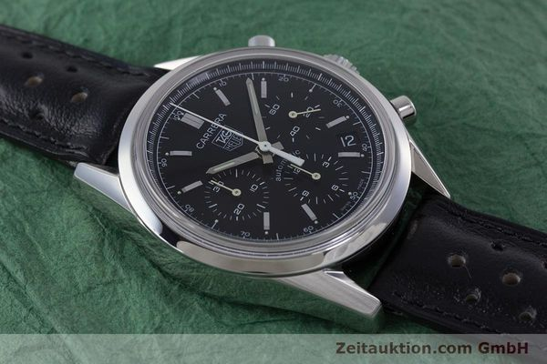 Used luxury watch Tag Heuer Carrera chronograph steel automatic Kal. 17 ETA 2894-2 Ref. CV2111-0  | 160812 14