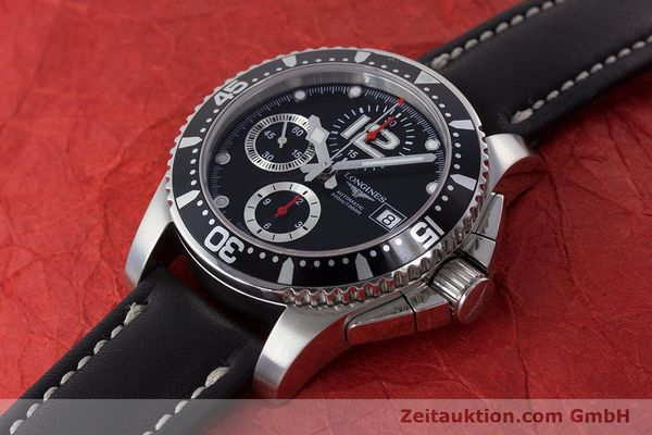Used luxury watch Longines Hydro Conquest chronograph steel automatic Kal. L674.2 ETA 7750 Ref. L3.644.4  | 160817 01