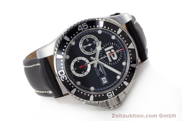 Used luxury watch Longines Hydro Conquest chronograph steel automatic Kal. L674.2 ETA 7750 Ref. L3.644.4  | 160817 03