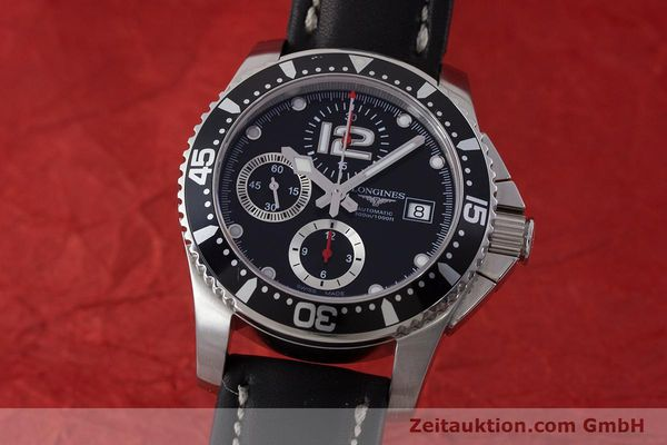 Used luxury watch Longines Hydro Conquest chronograph steel automatic Kal. L674.2 ETA 7750 Ref. L3.644.4  | 160817 04