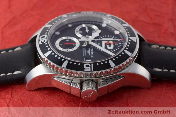 Used luxury watch Longines Hydro Conquest chronograph steel automatic Kal. L674.2 ETA 7750 Ref. L3.644.4  | 160817 05