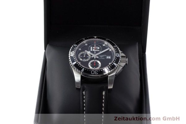 Used luxury watch Longines Hydro Conquest chronograph steel automatic Kal. L674.2 ETA 7750 Ref. L3.644.4  | 160817 07