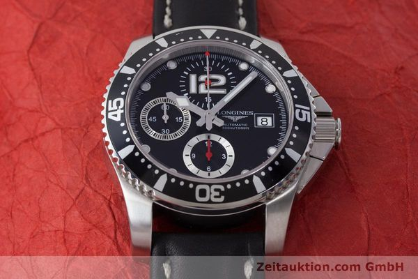 Used luxury watch Longines Hydro Conquest chronograph steel automatic Kal. L674.2 ETA 7750 Ref. L3.644.4  | 160817 16