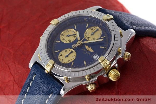 Used luxury watch Breitling Chronomat chronograph steel / gold automatic Kal. B13 ETA 7750 Ref. B13050.1  | 160820 01