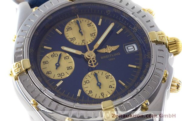 Used luxury watch Breitling Chronomat chronograph steel / gold automatic Kal. B13 ETA 7750 Ref. B13050.1  | 160820 02