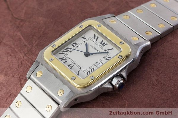 Used luxury watch Cartier Santos steel / gold automatic Kal. 077 ETA 2671  | 160822 01